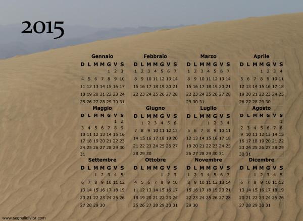 Calendario duna di sabbia del 2015