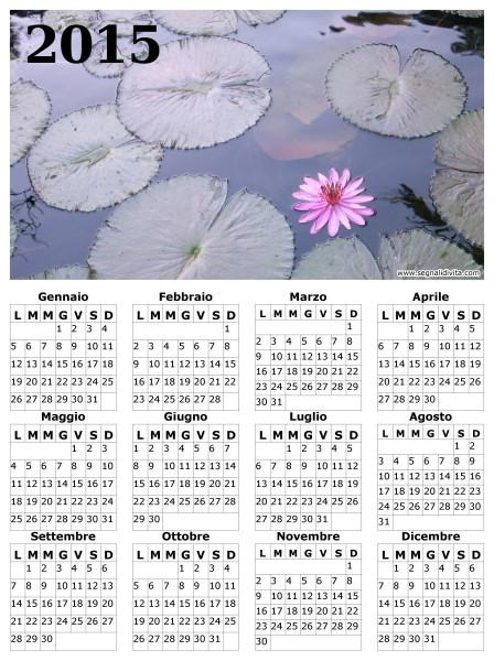 Calendario fior di loto del 2015