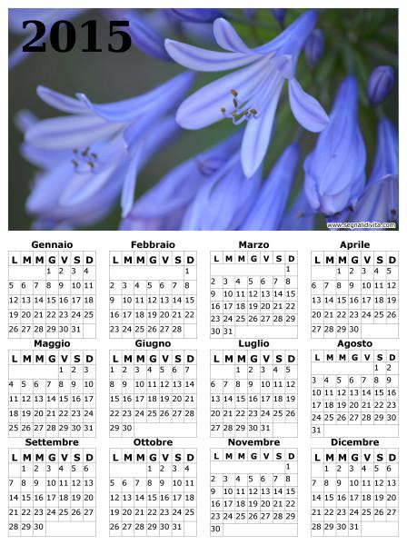 Calendario fiori del 2015