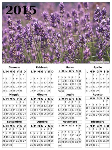 Calendario lavanda del 2015