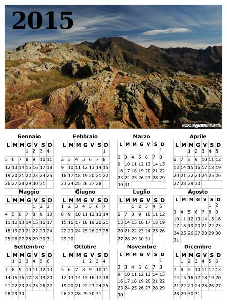 Calendario montagna del 2015