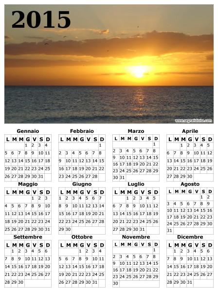 Calendario 2015 paesaggio marittimo