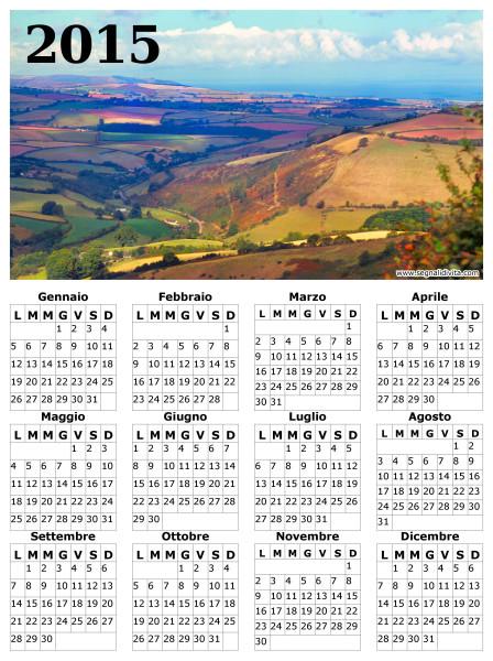 Calendario con panorama del 2015