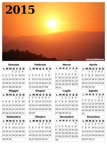 Calendario radioso del 2015