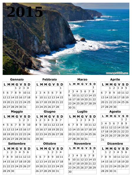 Calendario delle scogliere del 2015