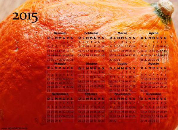 Calendario zucca del 2015
