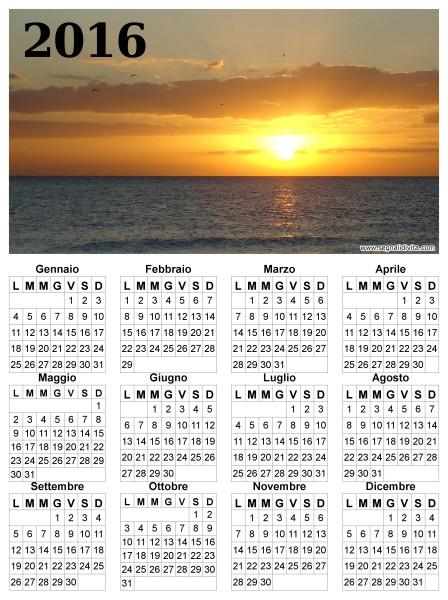 Calendario 2016 paesaggio marittimo