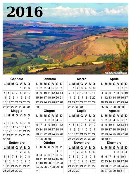 Calendario con panorama del 2016