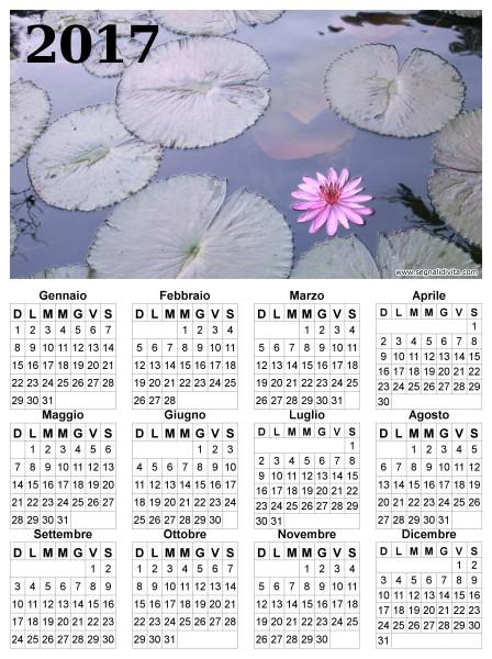 Calendario fior di loto del 2017