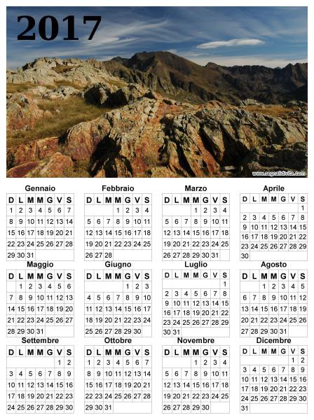 Calendario montagna del 2017