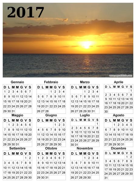 Calendario 2017 paesaggio marittimo