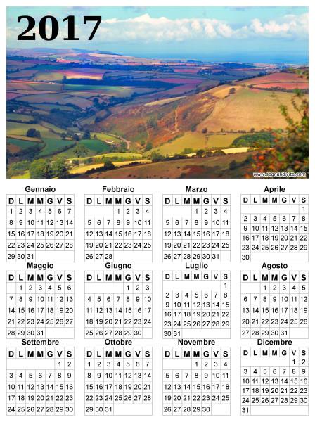 Calendario con panorama del 2017