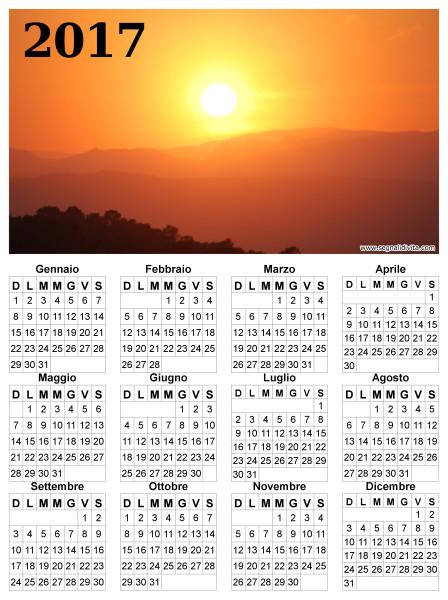 Calendario radioso del 2017