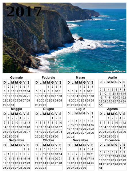 Calendario delle scogliere del 2017