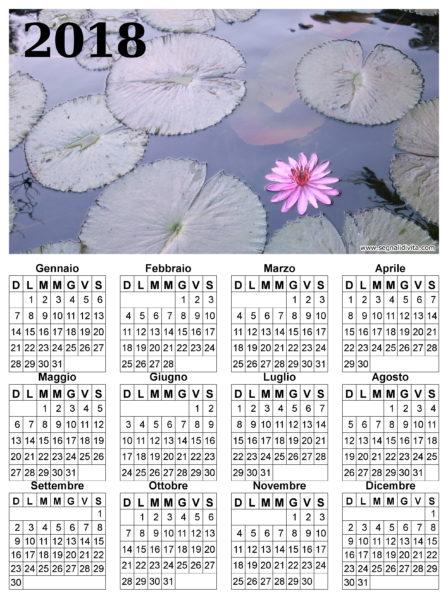 Calendario fior di loto del 2018