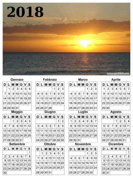 Calendario 2018 paesaggio marittimo