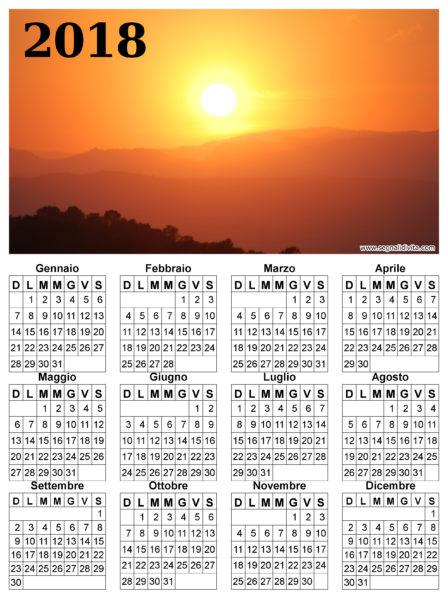 Calendario radioso del 2018