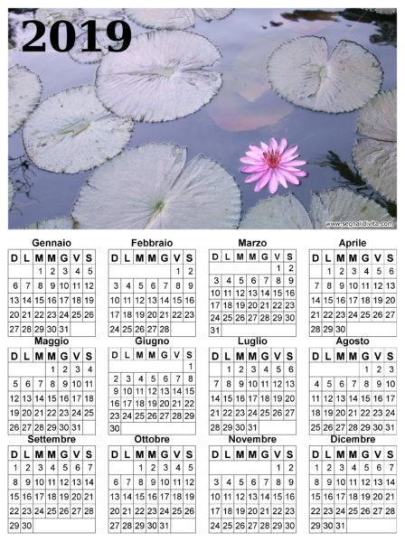 Calendario fior di loto del 2019