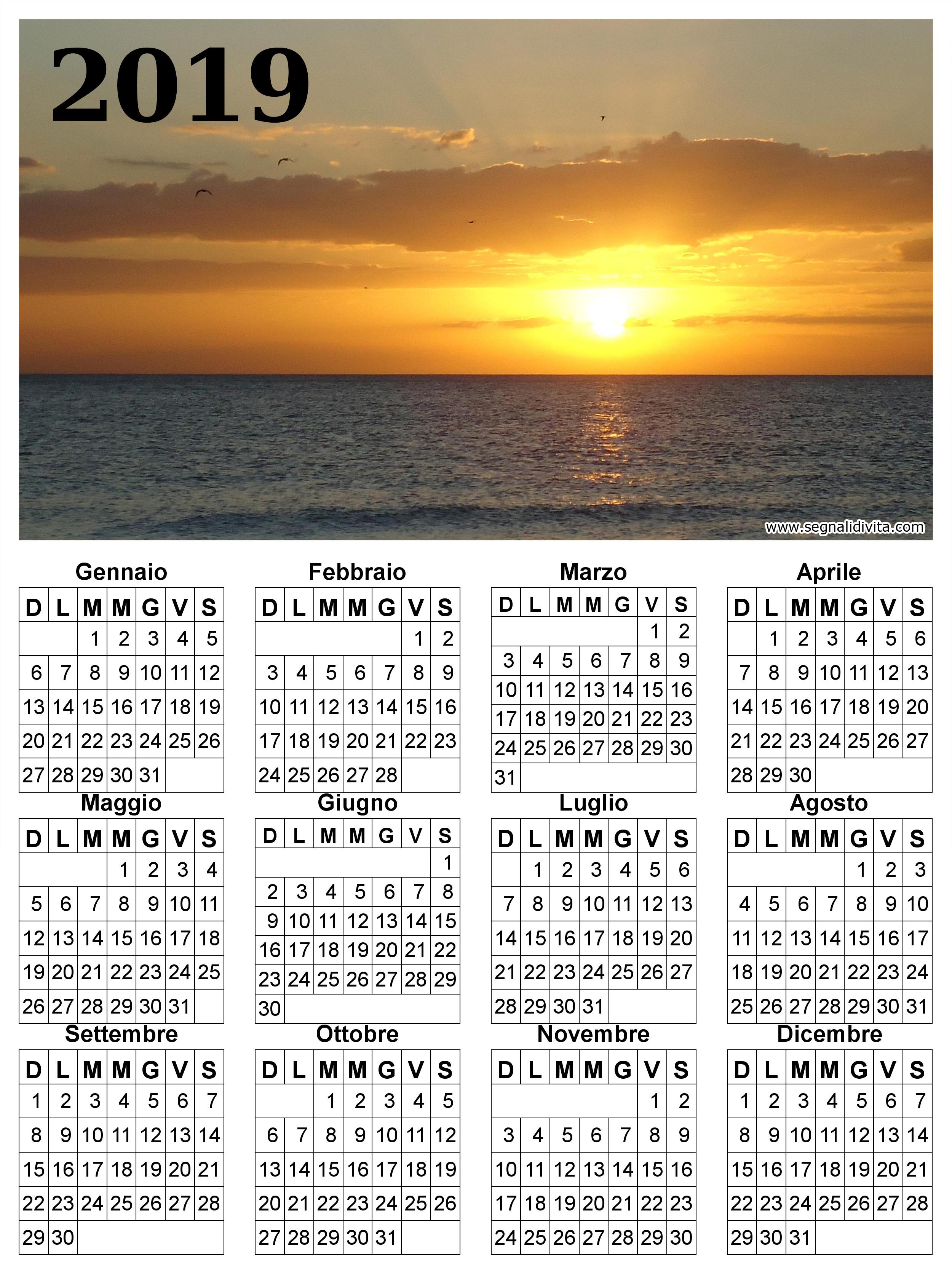 Calendario 2019 paesaggio marittimo