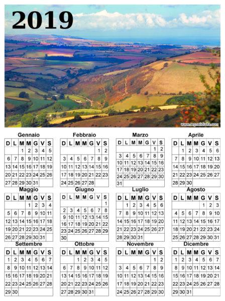 Calendario con panorama del 2019
