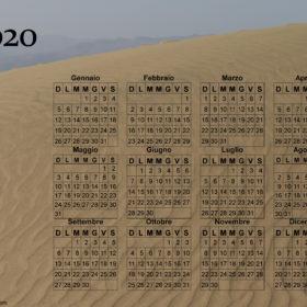 Calendario duna di sabbia del 2020