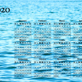 Calendario onde del mare del 2020