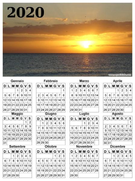 Calendario 2020 paesaggio marittimo