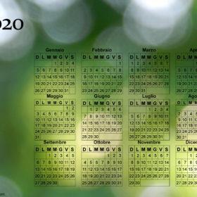 Calendario dei riflessi del 2020